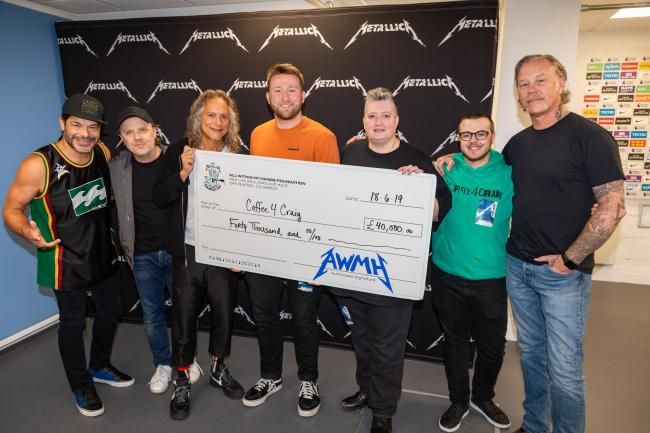 Metallica donate £40,000 to Manchester homeless charity