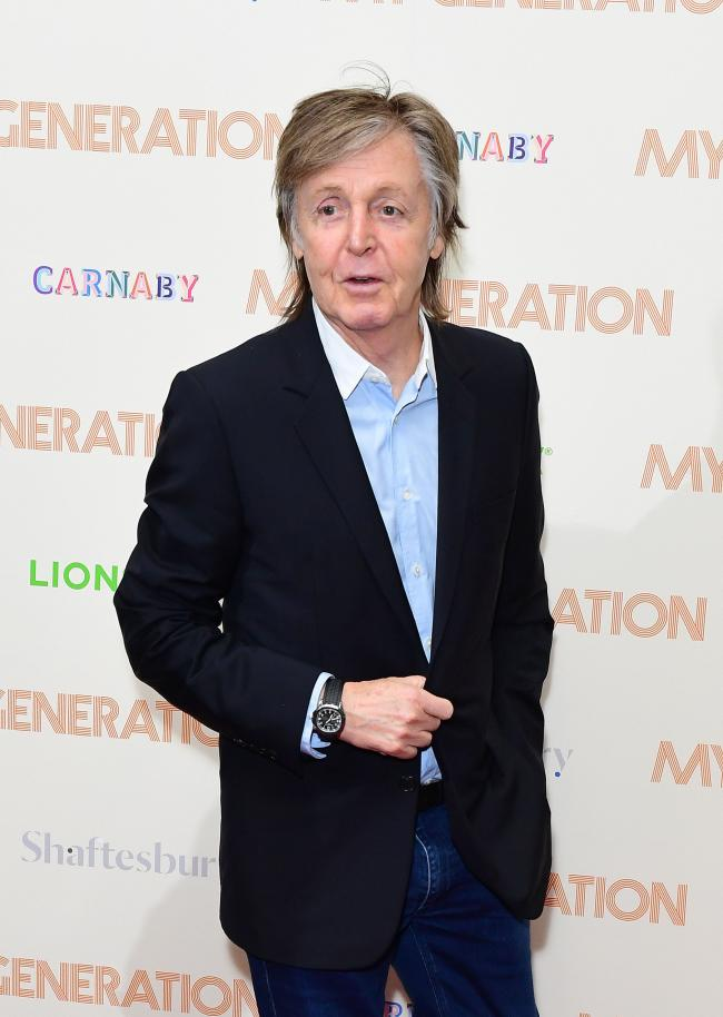 File photo dated 14/03/18 of Sir Paul McCartney, who is writing his first ever musical - a stage adaptation of classic film It's A Wonderful Life. PRESS ASSOCIATION Photo. Issue date: Thursday July 18, 2019. In a career first, the former Beatle will b