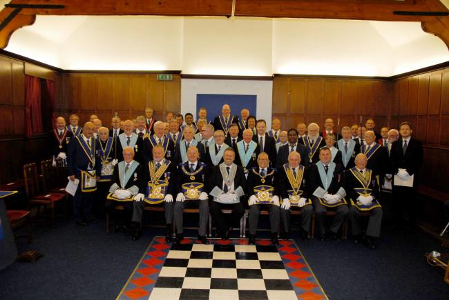 Sale Freemasons gathered to mark 75 years since the Lodge was founded