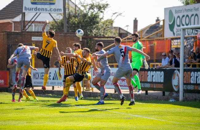 Alty try to get in the game at Boston United. Picture by Jonathan Moore