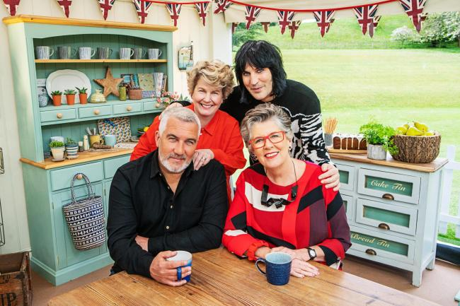 The Great British Bake Off presenters