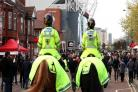 Mounted Officers policing a match at Old Trafford