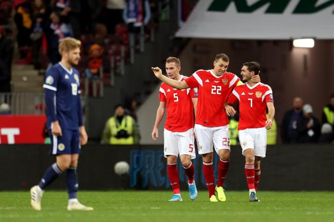 Scotland suffered a 4-0 loss in Russia