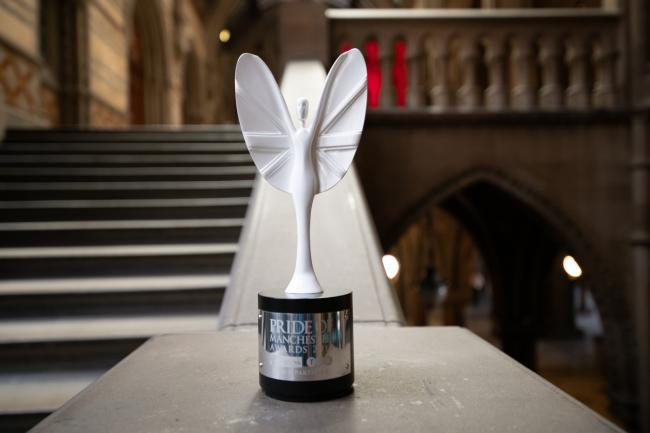 The Spirit of Manchester award was presented to the people of Manchester for their response to the Manchester Arena terror attack in 2017 [image courtesy of Trafford Council]