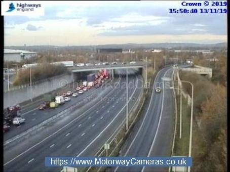 There are long delays on the M60 following the incident