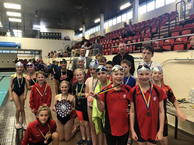 Youngsters from Trafford Metro Borough Swimming Club