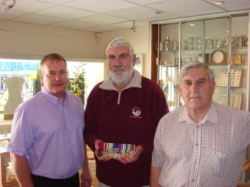 Messenger Newspapers: (l to r) Tony Parkes from AJ Parkes, Bill Speakman and Frank Fallows, national overseas coordinator for the Korean Veterans Association