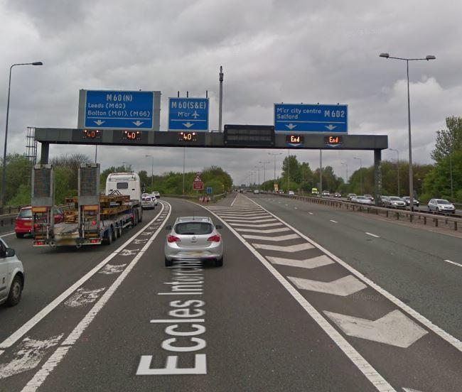 A crash on the M62 at Junction 12 is affecting traffic on the M60 and M602. Picture, Google Maps