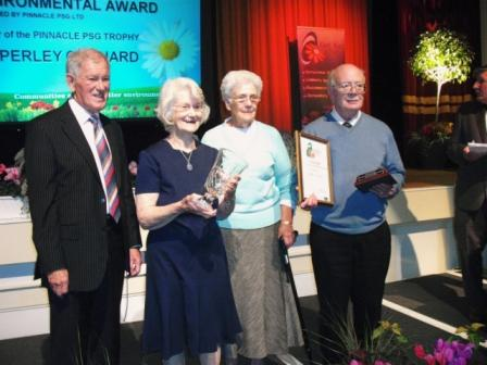 Mary Eastwood receiving the Environmental & Conservation Award