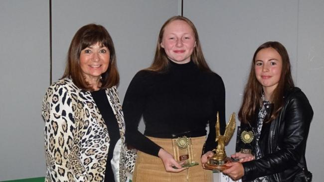 Ringway Golf Club's Most Improved Junior trophy went to both Milly Tighe and Amy Sarjantson