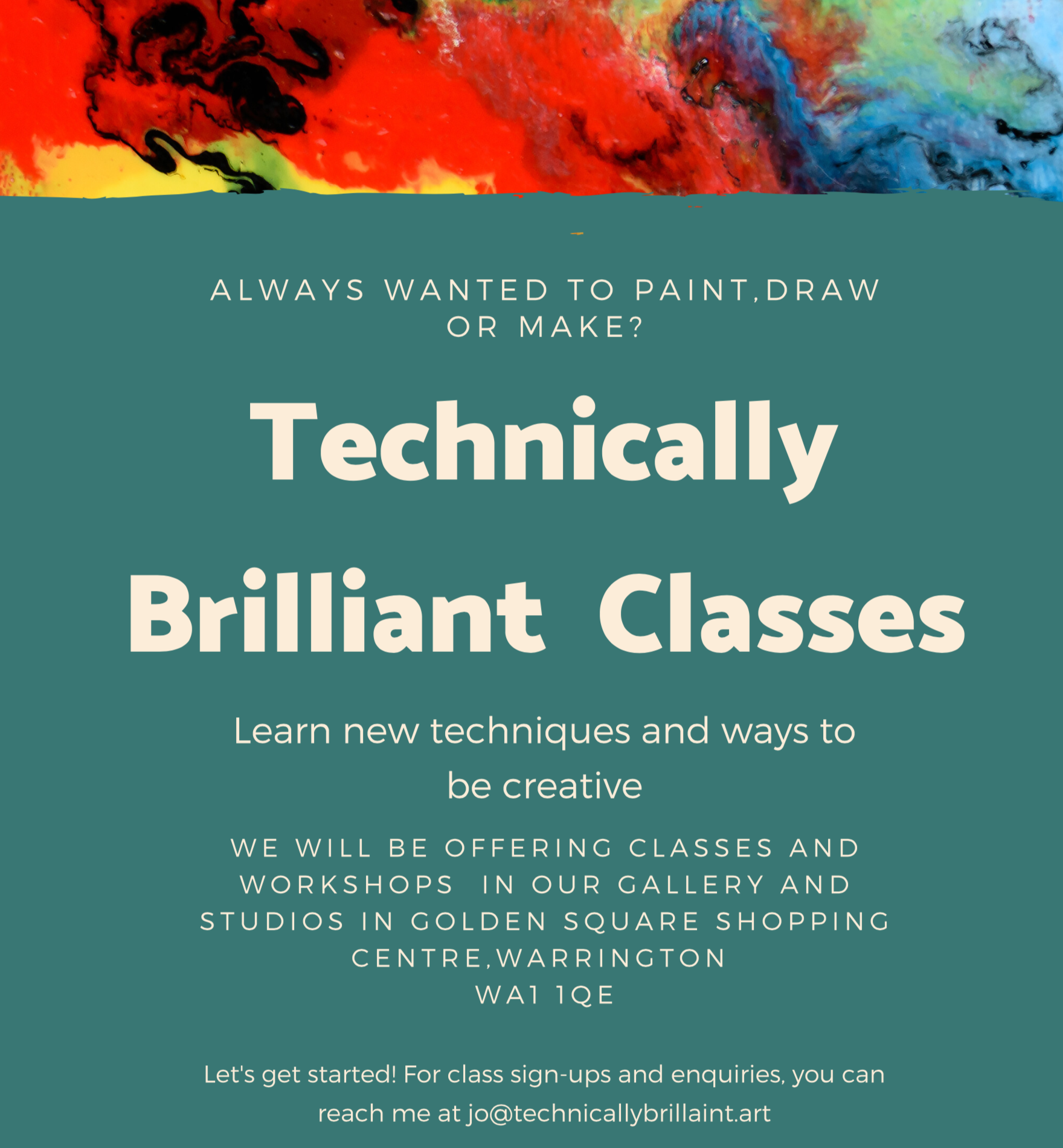 Art classes at Technically Brilliant Gallery