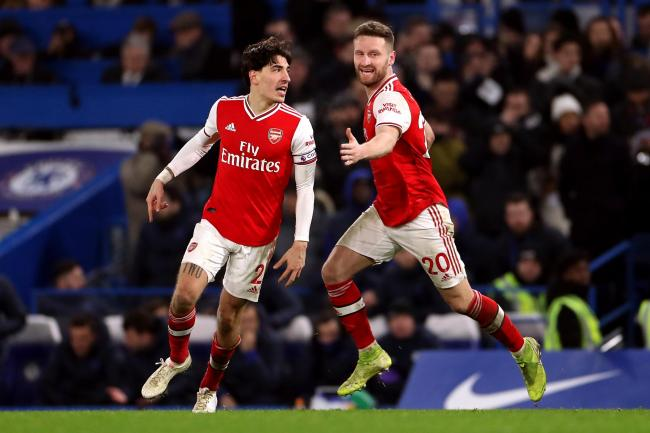 Hector Bellerin celebrates his late leveller