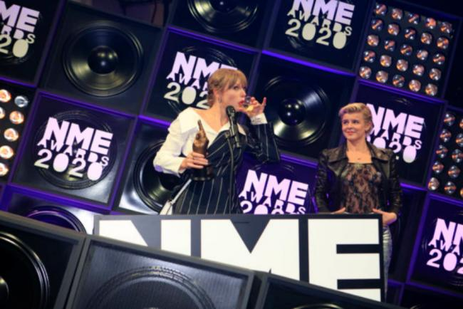 Taylor Swift at the NME Awards