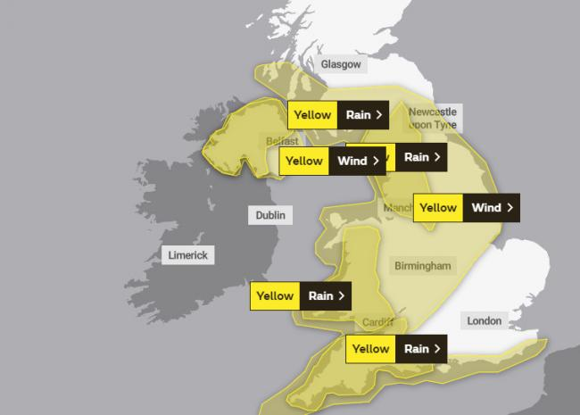 Storm Jorge is coming: Met Office warnings issued