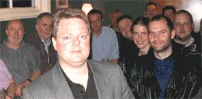 Paraquest's John Slater, at the back to the left