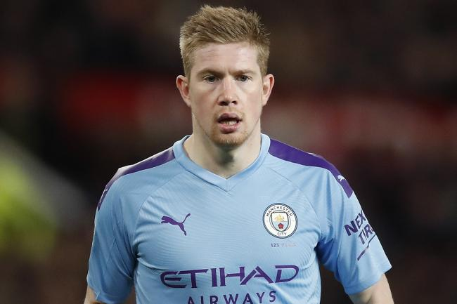 Kevin De Bruyne involved his children in his fitness work on Wednesday