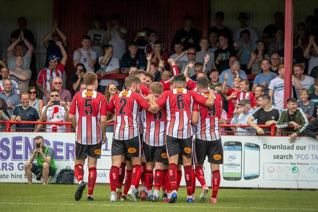 Altrincham fans are hoping their side get a shot at promotion