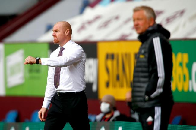 Sean Dyche, left, and Chris Wilder are both hoping to reach Europe next season