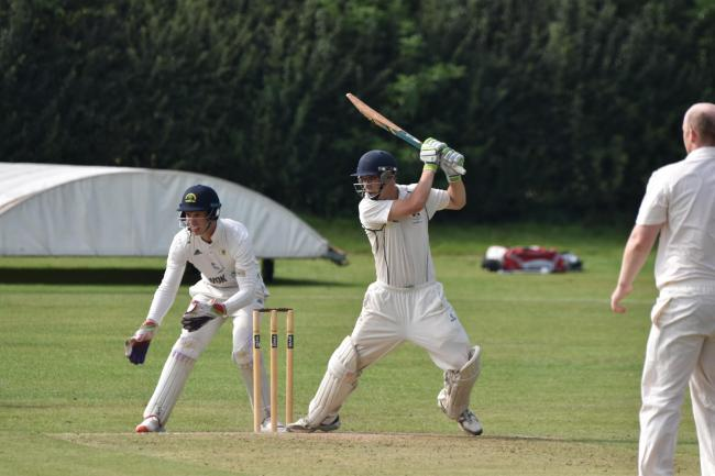 Ed Faulkner batting for Ashton on Mersey