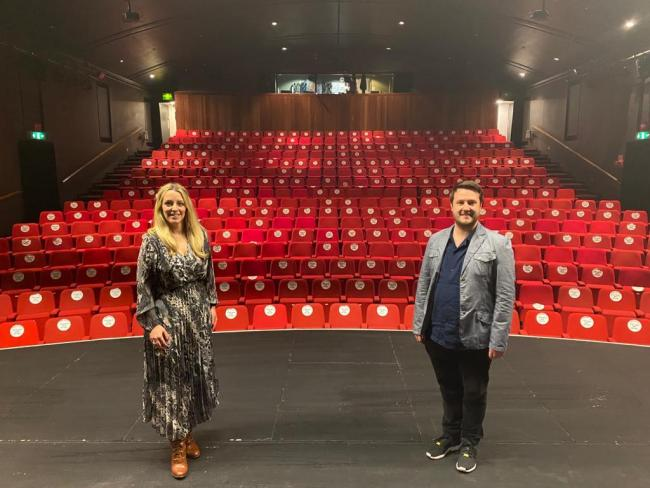 New appointments Sarah Reilly and Joe Meighan at the Garrick