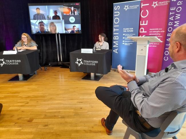 Students at Trafford College did a Question Time event with politicians