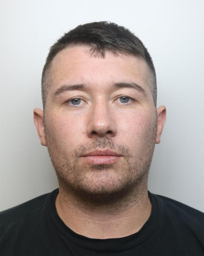 Adam Lewis, of Buttermarket Street, was jailed at Liverpool Crown Court