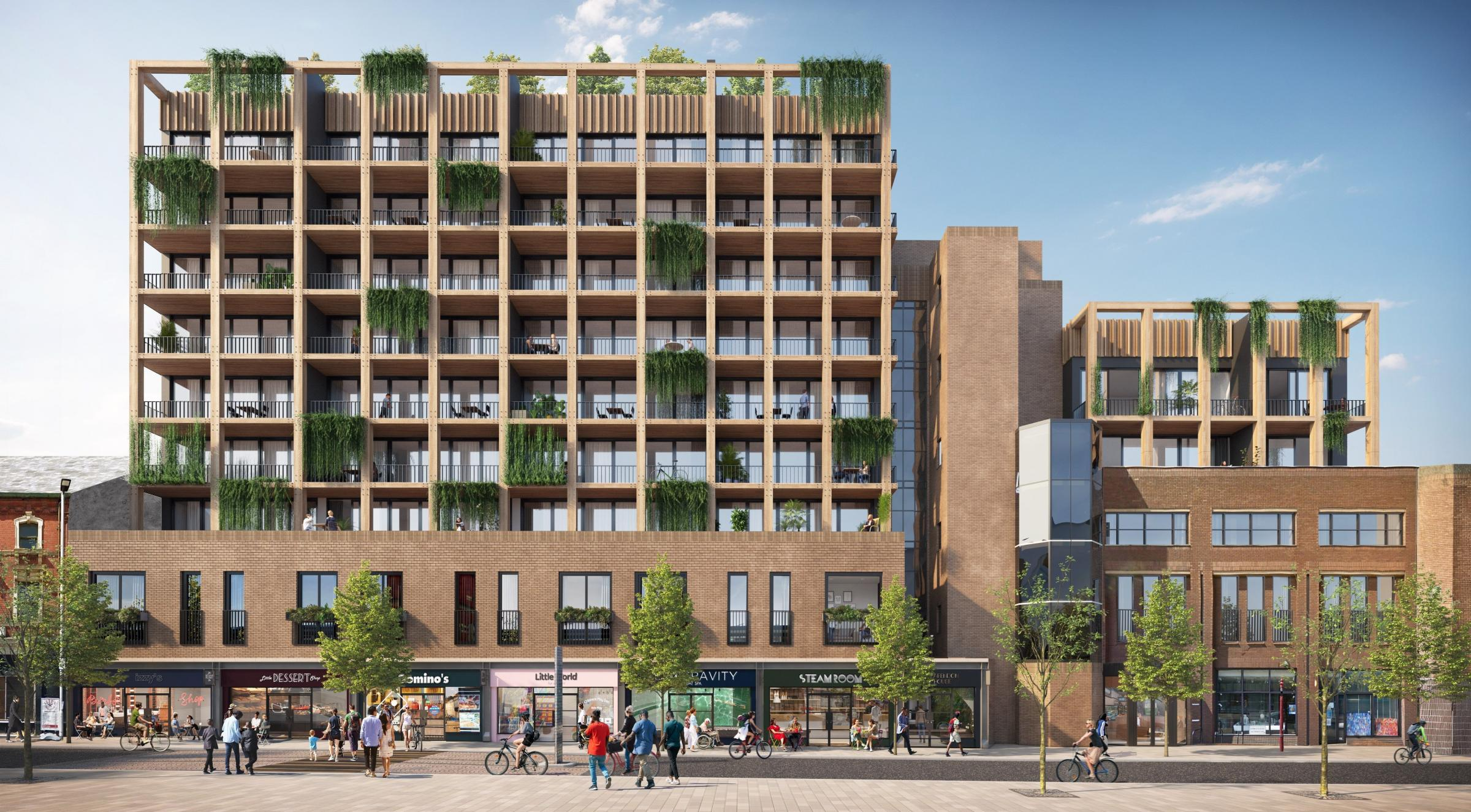 Stamford Quarter public square and new homes plans go out to consultation [Image by Bruntwood Works]