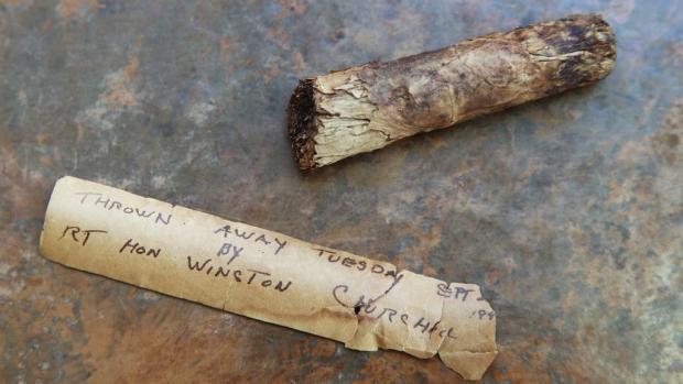 Messenger Newspapers: A cigar butt cast aside by Sir Winston Churchill. (PA)