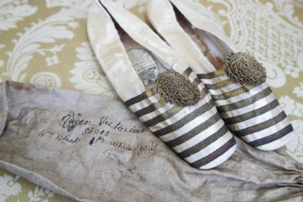 Messenger Newspapers: A pair of ballet-style slippers which belonged to Queen Victoria (Gareth Fuller/PA)