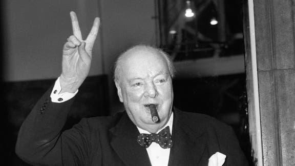 Sir Winston Churchill's cigar butt expected to sell for £1,200. (PA)
