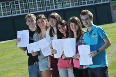 Wellington School pupils celebrate 'outstanding' results