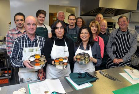 Chefs Nina and Sumita Dhand put students through their paces on the Flavours of India cookery course
