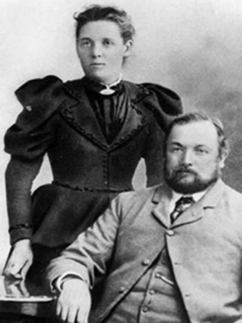 Alfred and Sarah Barker, the siblings' great grandparents