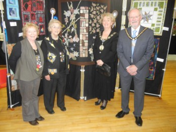 With the Mayor, Cllr Jane Baugh, and her consort, Dr Peter Baugh are (l to r) Carolyn Whiteley and Margaret Menzies