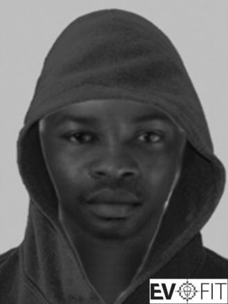 E-fit image of suspect released by police