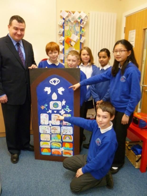 Altrincham school hands over a window for peace