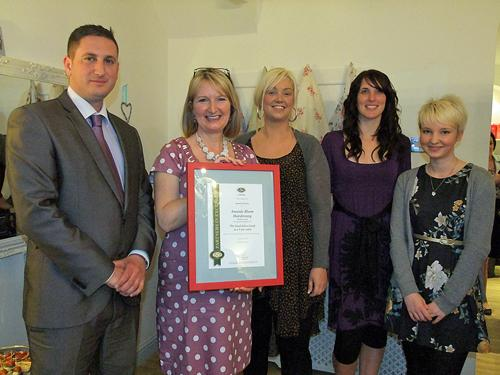 Amanda Machin, Chris Baker and staff from Amanda Bloom Hairdressing