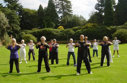 Tai Chi classes at Hare Hill. Picture: National Trust
