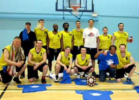 The triumphant players from Trafford Basketball Club
