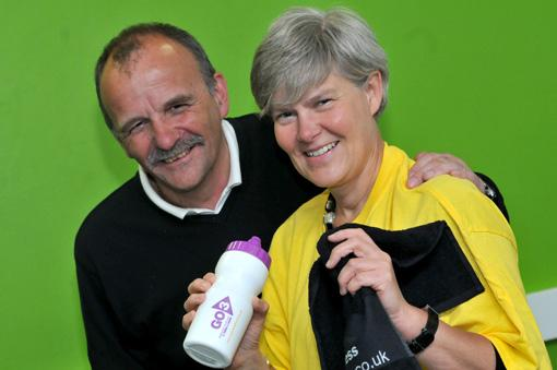 Bernie Jones, chief executive of Trafford Community Leisure Trust, and Kate Green MP