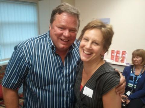 Funny man Ted Robbins attended the event