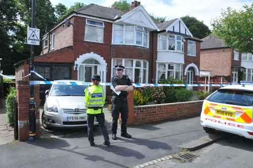 The police cordon on Clough Avenue