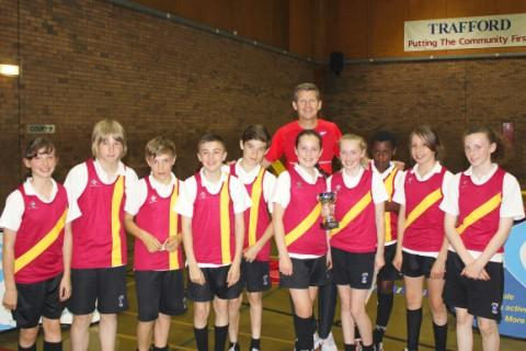 Olympic silver medallist and BBC commentator Steve Cram drops into George Carnall Leisure Centre