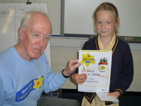 Lucy with John Brown, of the Sale fundraising group for Marie Curie Cancer Care