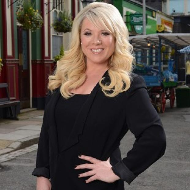 Letitia Dean is back in Albert Square as Sharon Watts