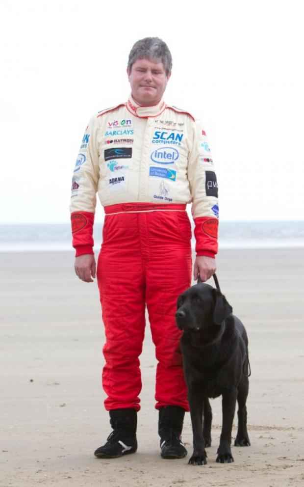 Mike Newman and his dog Baxter