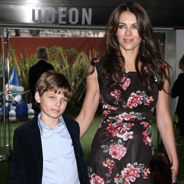 Liz Hurley's son visited the Neighbours set