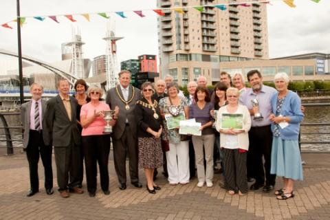 The Mayor, Cllr Patricia Young, and her consort, Cllr Michael Young, with the winners