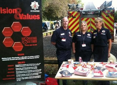 Some of the GMFRS team at the walk