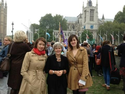 MP hosts women campaigners at Parliament lobby